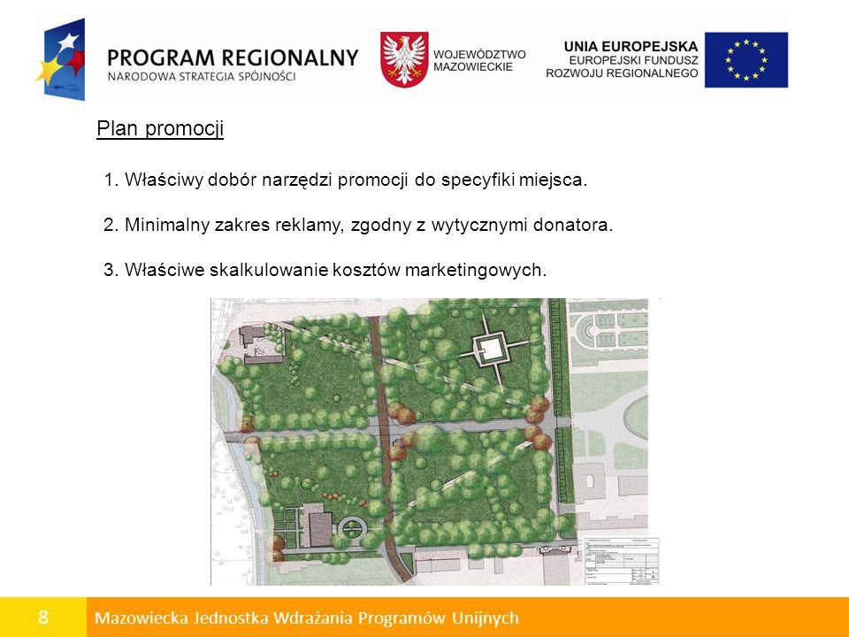 8 Mazowiecka Jednostka Wdrażania Programów Unijnych Plan promocji 1.