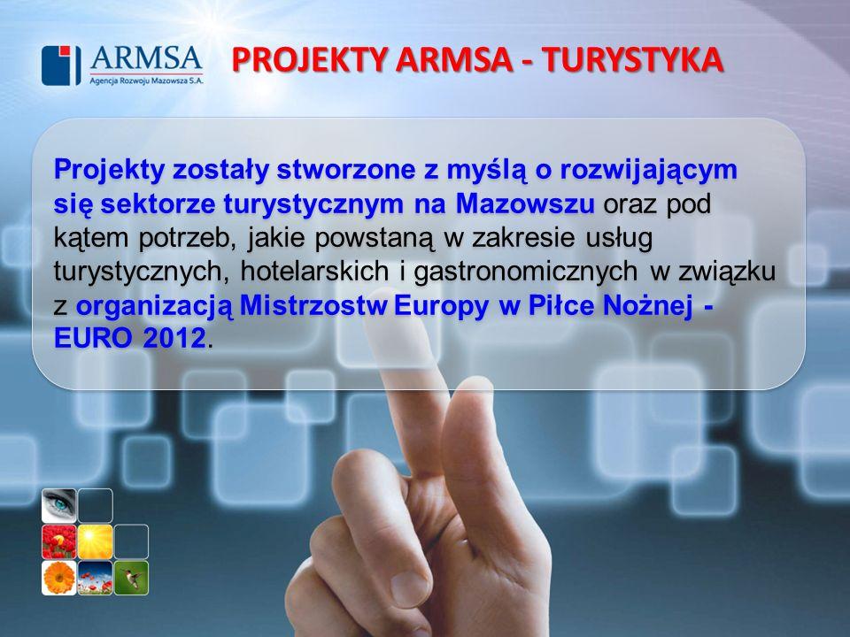 Projekty zostały stworzone z myślą o rozwijającym się sektorze turystycznym na Mazowszu oraz pod kątem potrzeb, jakie powstaną w zakresie usług turyst