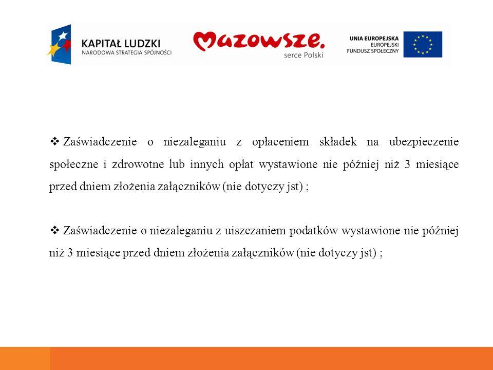 Formularz informacji zgodny z rozporządzeniem Rady Ministrów z dn.