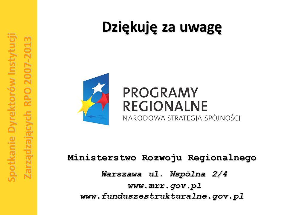 15 Ministerstwo Rozwoju Regionalnego Warszawa ul.