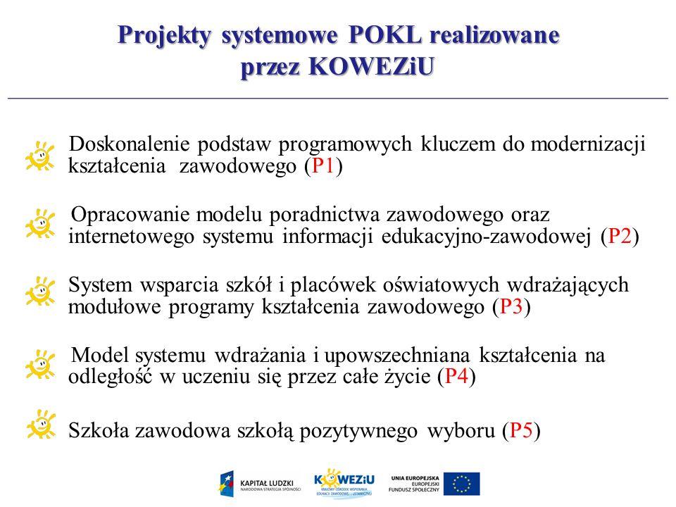 Doskonalenie podstaw programowych kluczem do modernizacji kształcenia zawodowego (P1) Opracowanie modelu poradnictwa zawodowego oraz internetowego sys