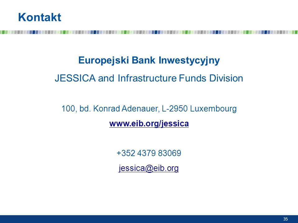 Europejski Bank Inwestycyjny JESSICA and Infrastructure Funds Division 100, bd. Konrad Adenauer, L-2950 Luxembourg www.eib.org/jessica +352 4379 83069