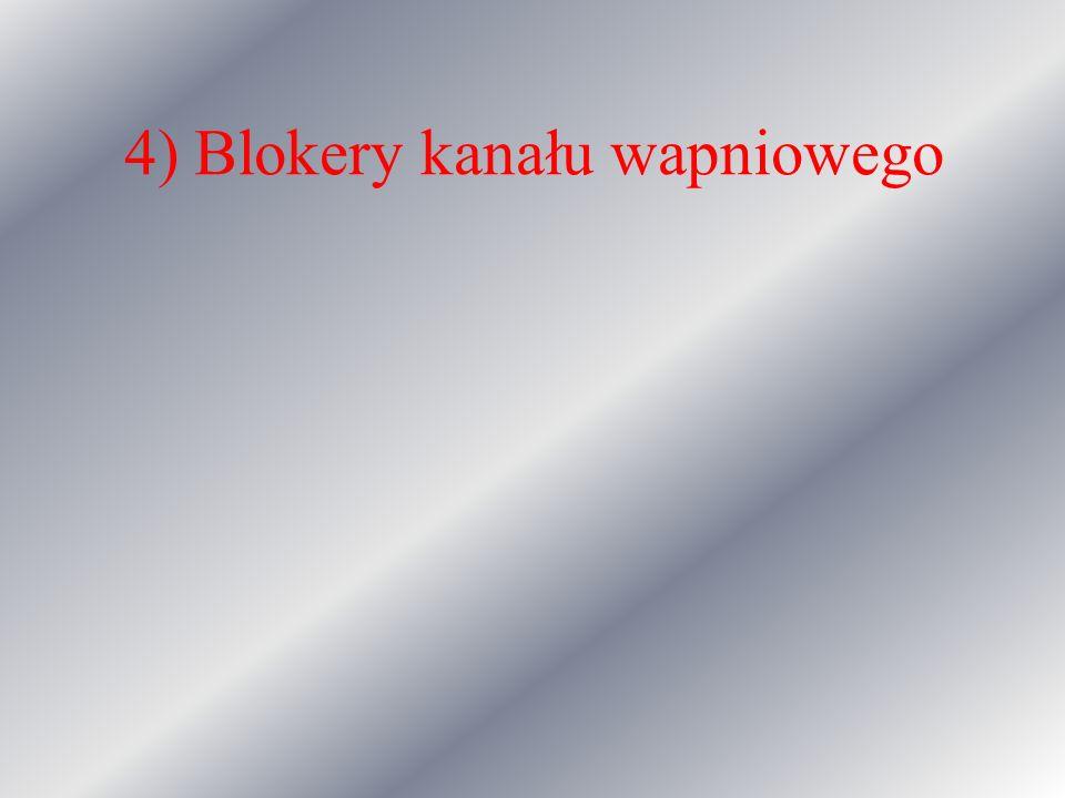 4) Blokery kanału wapniowego