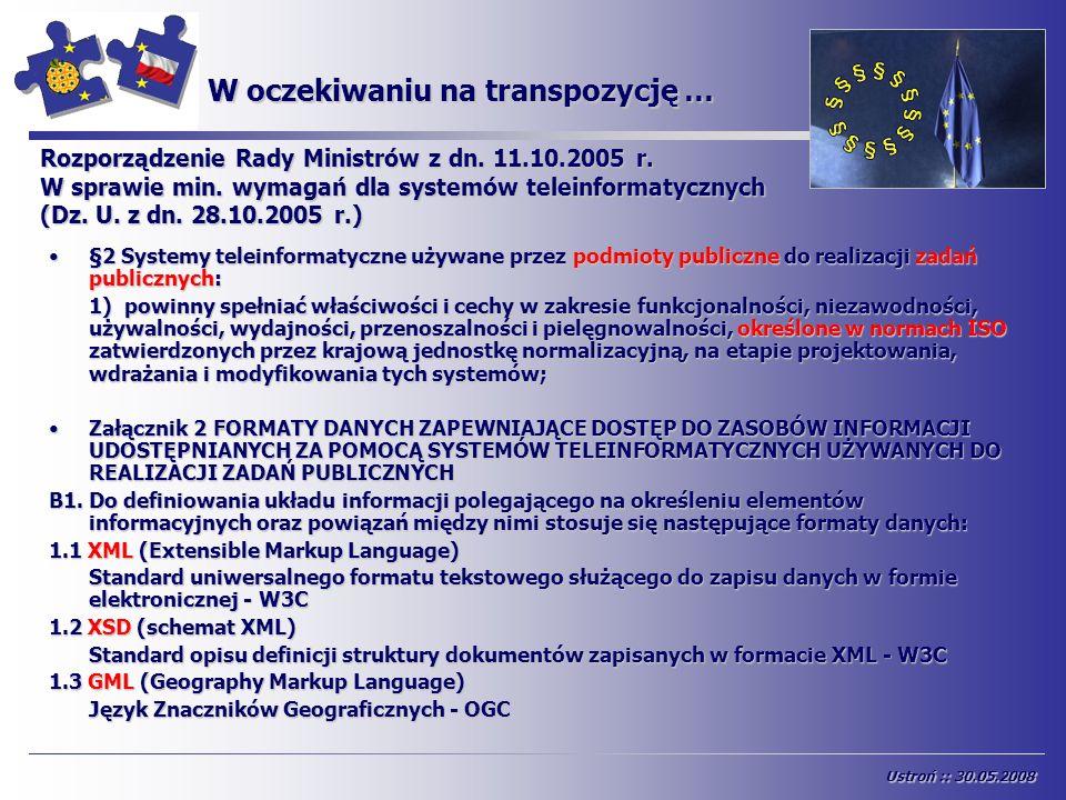 W oczekiwaniu na transpozycję … §2 Systemy teleinformatyczne używane przez podmioty publiczne do realizacji zadań publicznych:§2 Systemy teleinformaty