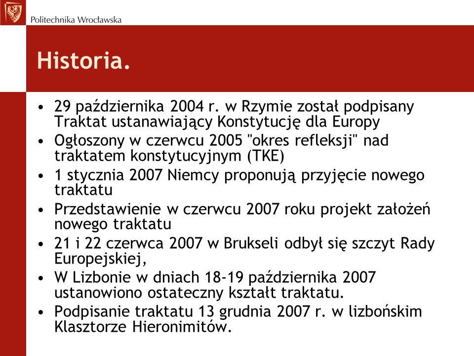 Bibliografia Europa.eu/lisbon_treaty/index_pl wikipedia.org/trakat_lizboński Uwarunkowania regionalizacji w Polsce w kontekście traktatu z Lizbony Jacek Oleksiejuk http://ec.europa.eu/news/eu_explained/ index_pl.htm