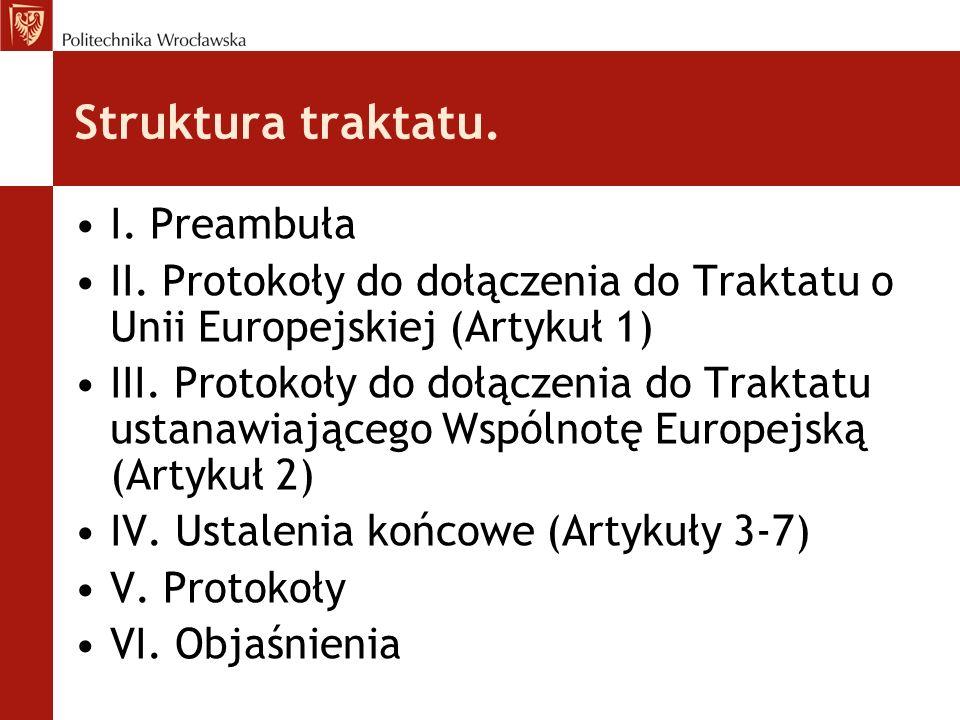 Postanowienia traktatu - kompetencje unii.