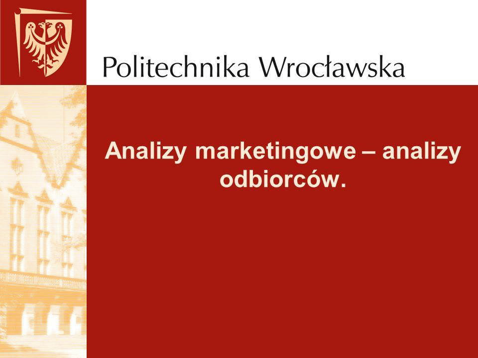Analizy marketingowe – analizy odbiorców.