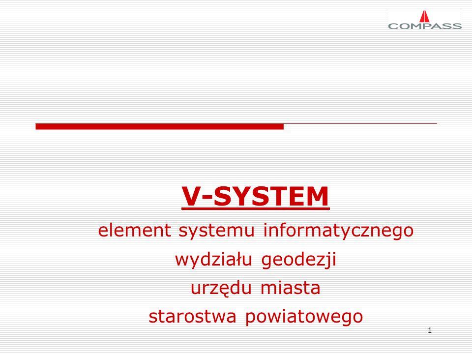 1 V-SYSTEM element systemu informatycznego wydziału geodezji urzędu miasta starostwa powiatowego