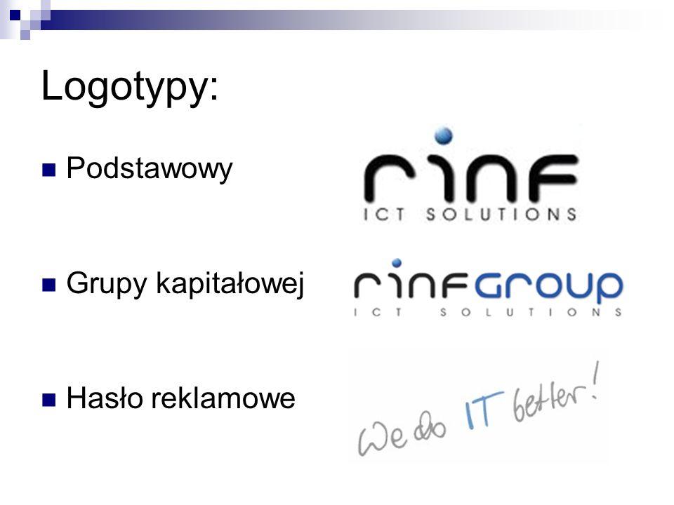 Logotypy: Podstawowy Grupy kapitałowej Hasło reklamowe