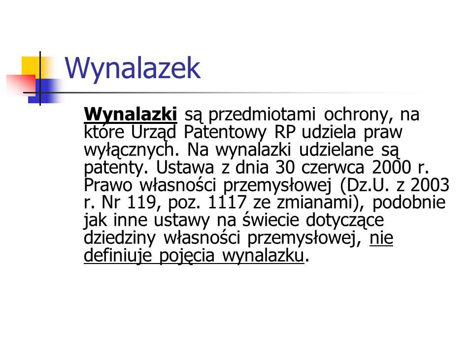 Patent Patent jest to swego rodzaju dokument, który wydawany jest przez upoważnione do tego urzędy patentowe.