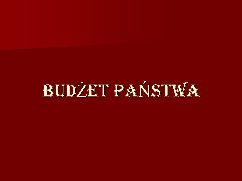 BUD Ż ET PA Ń STWA