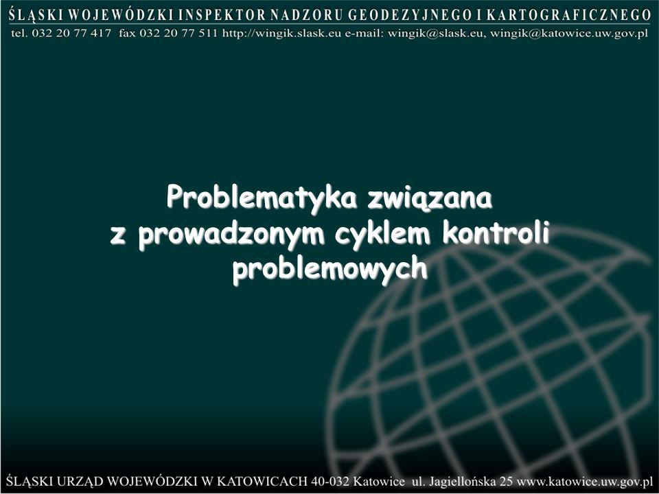 Problematyka związana z prowadzonym cyklem kontroli problemowych