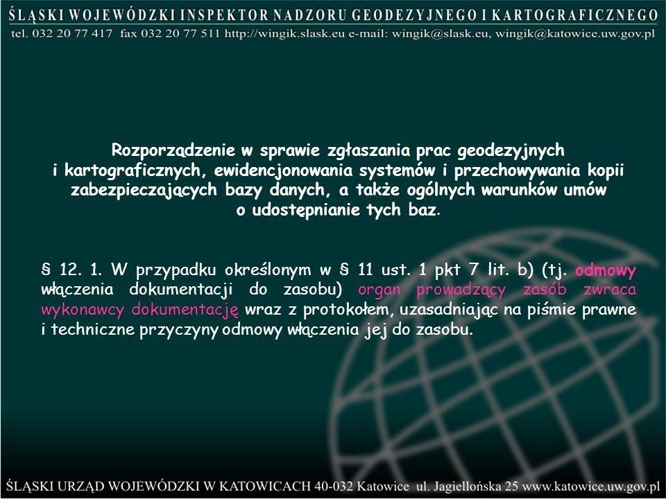 Rozporządzenie w sprawie zgłaszania prac geodezyjnych i kartograficznych, ewidencjonowania systemów i przechowywania kopii zabezpieczających bazy dany