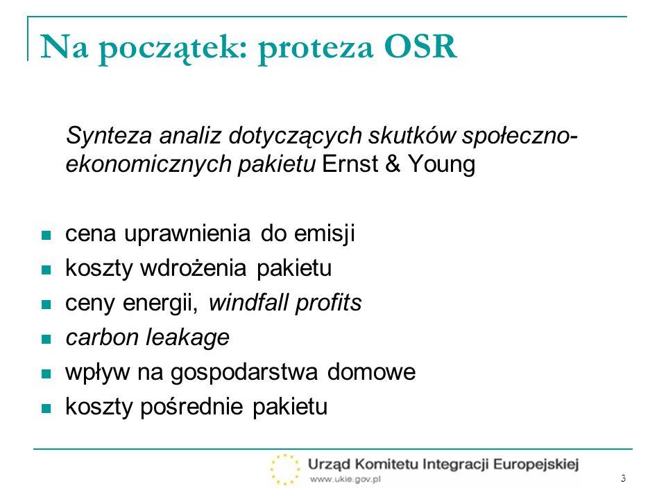 4 Kontynuacja procesu analitycznego Stanowisko PL kształtowano w oparciu o analizy: zlecone ogólnie dostępne własne