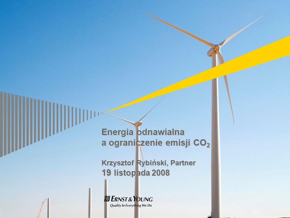 Energia odnawialna a ograniczenie emisji CO 2 Krzysztof Rybiński, Partner 19 listopada 2008