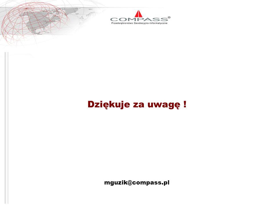 Dziękuje za uwagę ! mguzik@compass.pl
