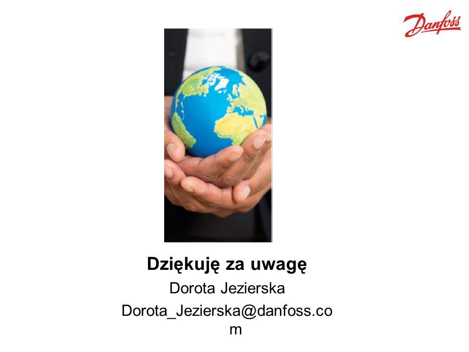 Dziękuję za uwagę Dorota Jezierska Dorota_Jezierska@danfoss.co m