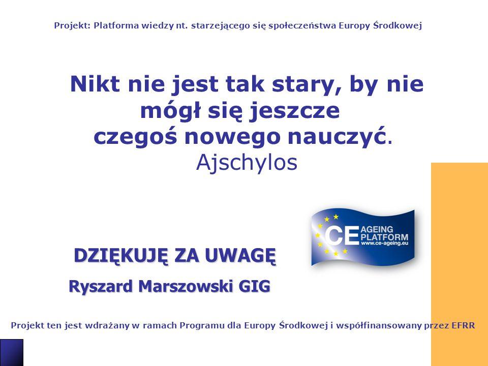 21 DZIĘKUJĘ ZA UWAGĘ Ryszard Marszowski GIG Projekt ten jest wdrażany w ramach Programu dla Europy Środkowej i współfinansowany przez EFRR Projekt: Pl