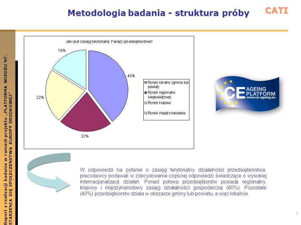 6 Metodologia badania - struktura próby Raport z realizacji badania w ramach projektu PLATFORMA WIEDZU NT.STARZENIA SIĘ SPOŁECZEŃSTWA EUROPY ŚRODKOWEJ