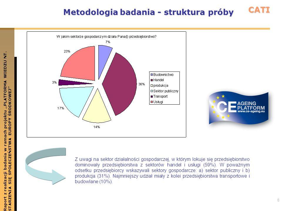 8 Metodologia badania - struktura próby Raport z realizacji badania w ramach projektu PLATFORMA WIEDZU NT.STARZENIA SIĘ SPOŁECZEŃSTWA EUROPY ŚRODKOWEJ