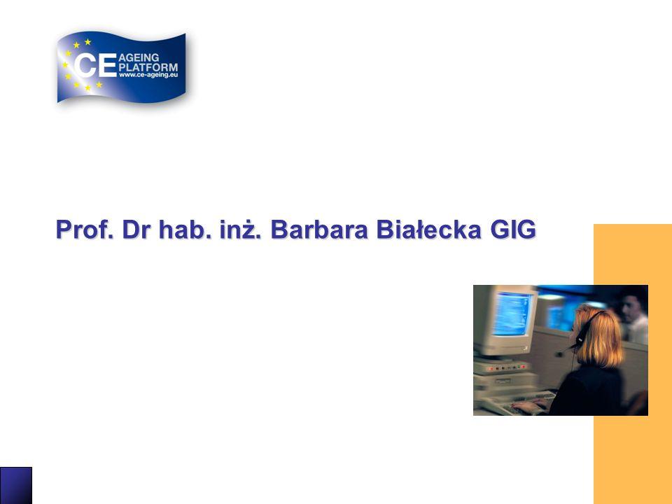 32 Prof. Dr hab. inż. Barbara Białecka GIG