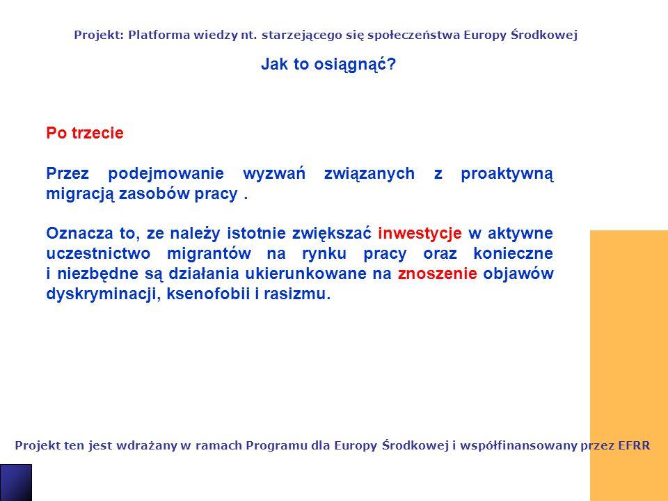 10 Projekt ten jest wdrażany w ramach Programu dla Europy Środkowej i współfinansowany przez EFRR Projekt: Platforma wiedzy nt.