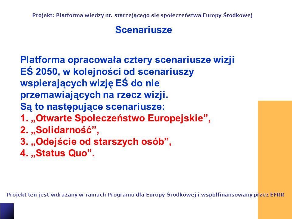 12 Projekt ten jest wdrażany w ramach Programu dla Europy Środkowej i współfinansowany przez EFRR Projekt: Platforma wiedzy nt.
