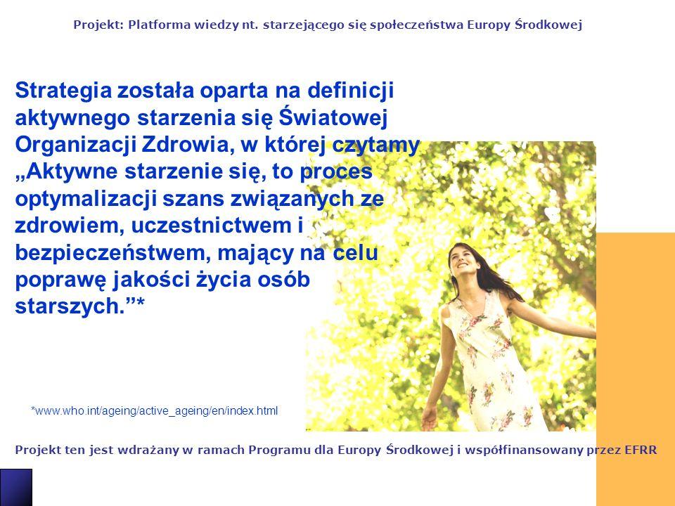 2 Projekt ten jest wdrażany w ramach Programu dla Europy Środkowej i współfinansowany przez EFRR Projekt: Platforma wiedzy nt.