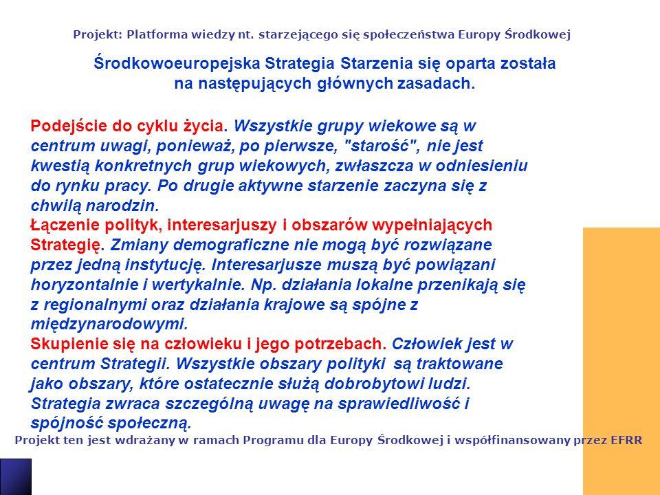3 Projekt ten jest wdrażany w ramach Programu dla Europy Środkowej i współfinansowany przez EFRR Projekt: Platforma wiedzy nt.