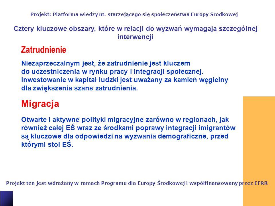5 Projekt ten jest wdrażany w ramach Programu dla Europy Środkowej i współfinansowany przez EFRR Projekt: Platforma wiedzy nt.