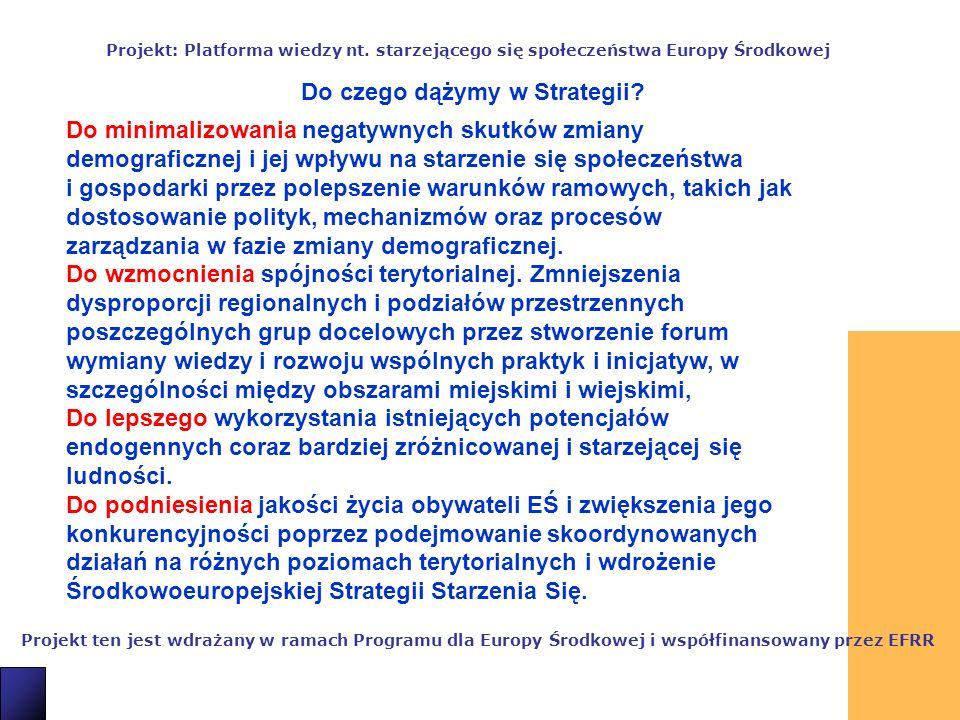 7 Projekt ten jest wdrażany w ramach Programu dla Europy Środkowej i współfinansowany przez EFRR Projekt: Platforma wiedzy nt.