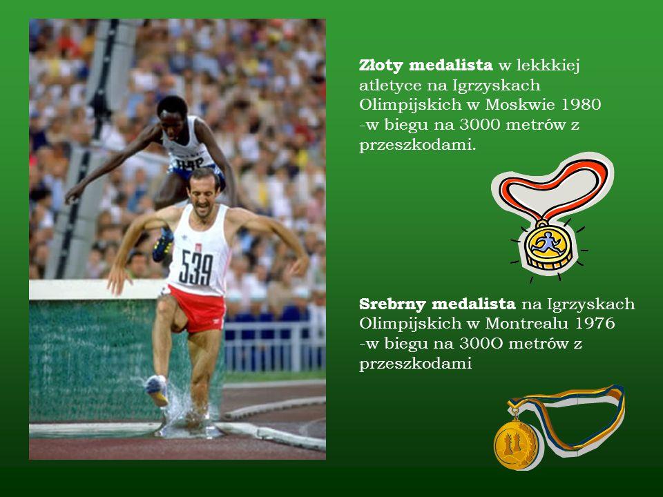 1968 - początek treningów w GKS Olimpia w Grudziądzu 1969 - brązowy medal na 3000 m podczas zawodów Nadziei Olimpijskich w Sofii 1970 - złoty medal na 2000 m z przeszkodami ME Juniorów w Paryżu 1971 - VIII miejsce w biegu na 5000 m w ME w Helsinkach 1972 - IV miejsce w biegu na 3000 metrów z przeszkodami podczas Igrzysk Olimpijskich w Monachium 1974 - złoty medal w biegu na 3000 metrów z przeszkodami i IV miejsce w biegu na 10000 m podczas ME w Rzymie 1978 - złoty medal na 3000 m z przeszkodami na ME w Pradze INNE SUKCESY SPORTOWE