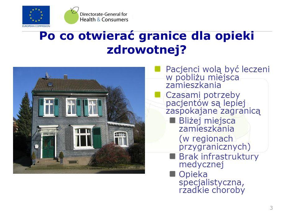 14 Kolejne kroki Propozycja Dyrektywy i Komunikatu – przyjęcie w ramach pakietu socjalnego przewidywane na 2 lipca 2008 Początek procedury współdecydowania (co-decision procedure) Przyjęcie zasad wprowadzających w życie przez nowy komitet ds.