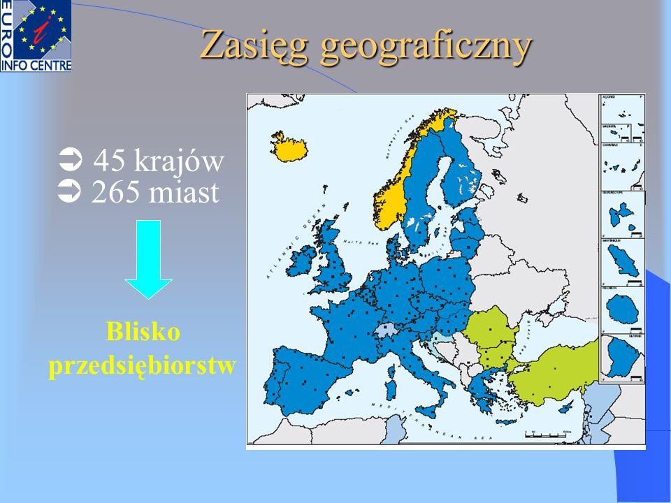 Blisko przedsiębiorstw 45 krajów 265 miast Zasięg geograficzny