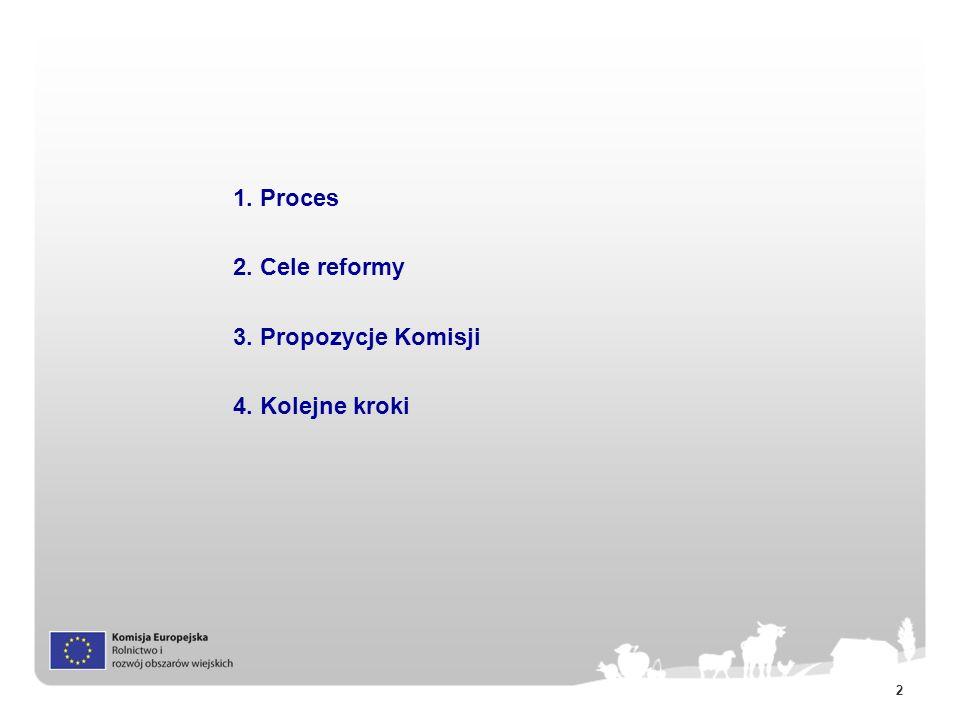 2 1. Proces 2. Cele reformy 3. Propozycje Komisji 4. Kolejne kroki