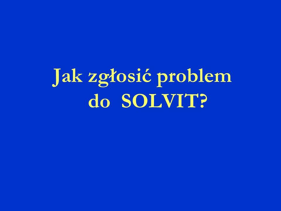 Jak zgłosić problem do SOLVIT