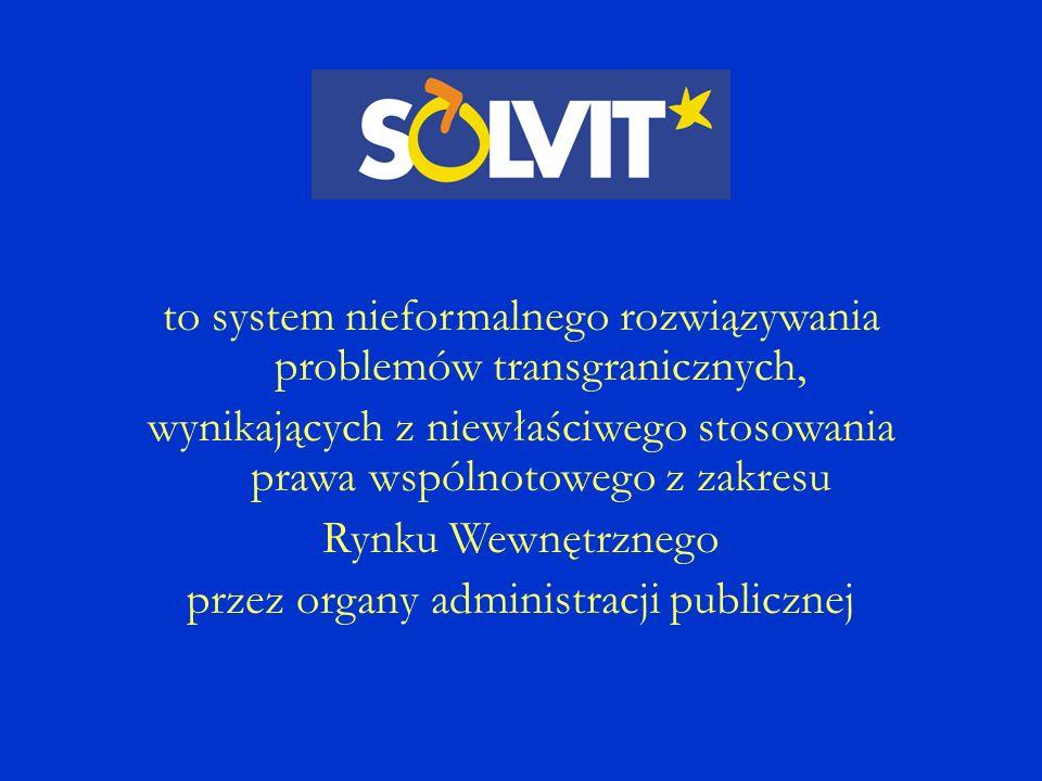 to system nieformalnego rozwiązywania problemów transgranicznych, wynikających z niewłaściwego stosowania prawa wspólnotowego z zakresu Rynku Wewnętrznego przez organy administracji publicznej