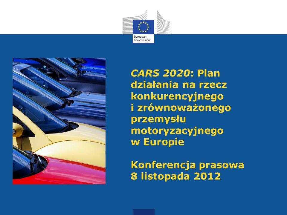 CARS 2020: Plan działania na rzecz konkurencyjnego i zrównoważonego przemysłu motoryzacyjnego w Europie Konferencja prasowa 8 listopada 2012