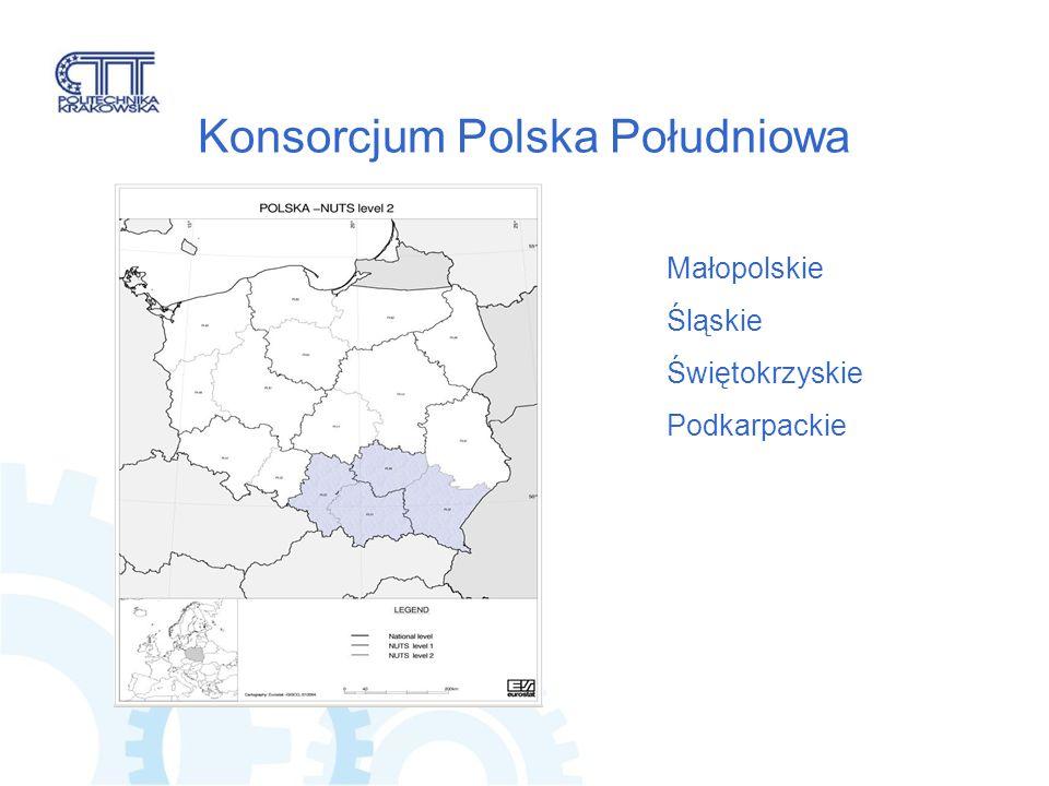 Konsorcjum Polska Południowa Małopolskie Śląskie Świętokrzyskie Podkarpackie
