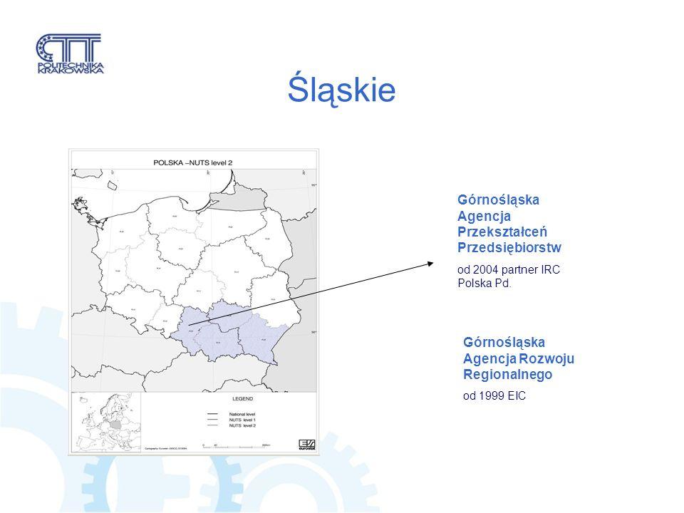 Śląskie Górnośląska Agencja Przekształceń Przedsiębiorstw od 2004 partner IRC Polska Pd.