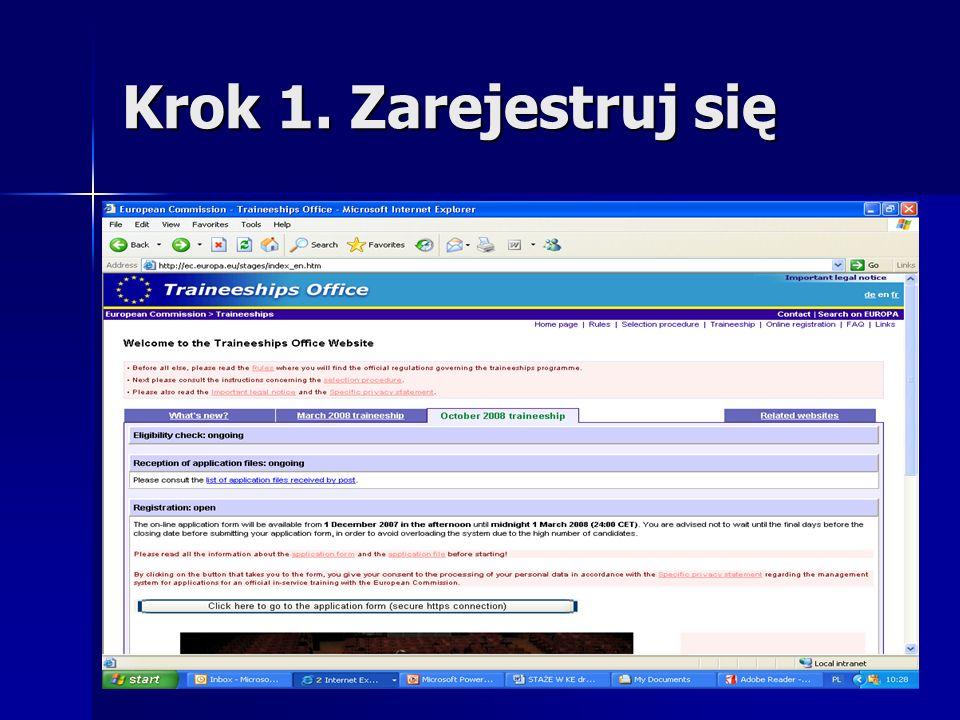 Początek stażu Pierwszy tydzień: wprowadzenie do pracy wprowadzenie do pracy Welcome Conference w Brukseli Welcome Conference w Brukseli 1.