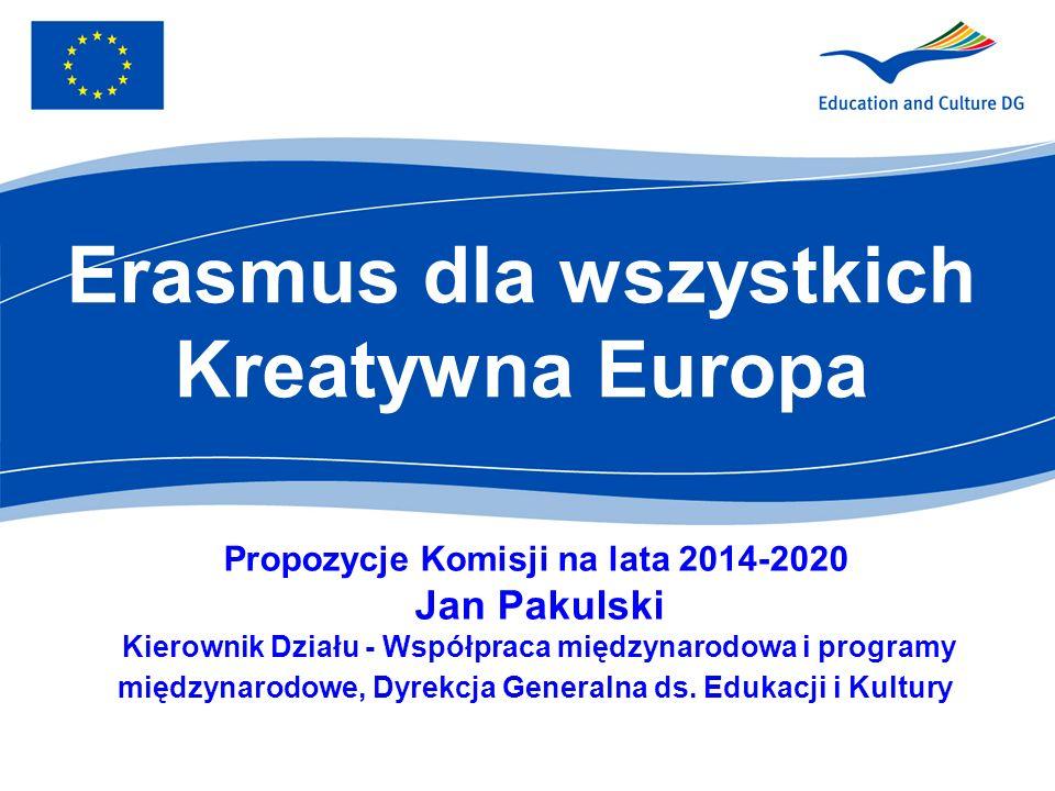Dotychczasowe osiągnięcia 400 000 młodych ludzi każdego roku otrzymuje dofinansowanie z UE, aby uczyć się i zdobywać wiedzę za granicą ponad 2 miliony osób wzięło udział w Erasmusie 20 000 artystów uczestniczy każdego roku w projektach transgranicznych finansowane ze środków unijnych filmy zdobyły 5 Oskarów w 2011 r.