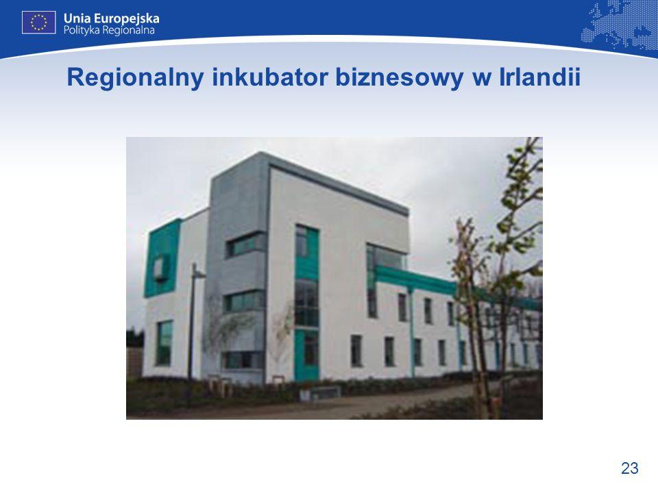 23 Regionalny inkubator biznesowy w Irlandii