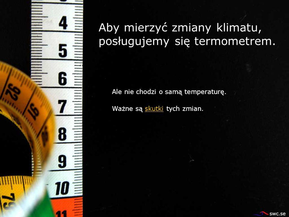 Aby mierzyć zmiany klimatu, posługujemy się termometrem. Ale nie chodzi o samą temperaturę. Ważne są skutki tych zmian.