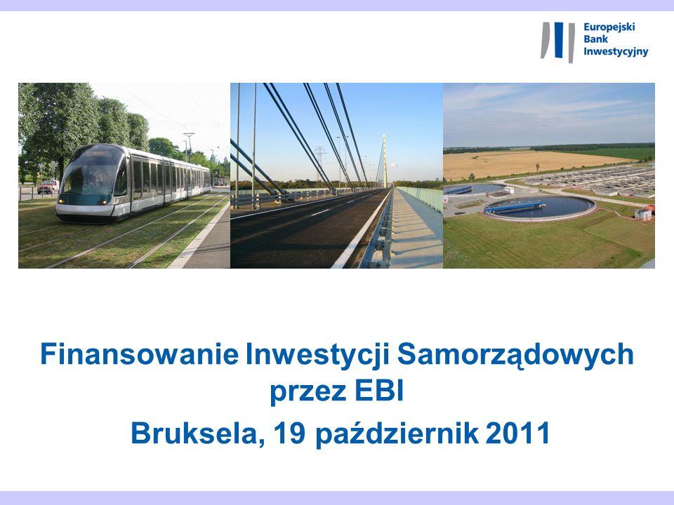 22 Projekty samorządowe współfinansowane przez EBI w Polsce 6 bezpośrednich umów finansowych z 5 województwami Małopolskie Mazowieckie Infrastruktura regionalna, 160 mln zl, 2009 Infrastruktura Regionalna, 310 mln zl, 2008 Infrastuktura Regionalna, 88 mln, 2009 Zachodniopomorskie Infrastruktura regionalna, 350 mln zl, 2009 Infrastruktura regionalna, 450 mln zl, 2010 Kujawsko-Pomorskie Modernizacja szpitali wojewódzkich, 425 mln zl, 2010 Łódzkie