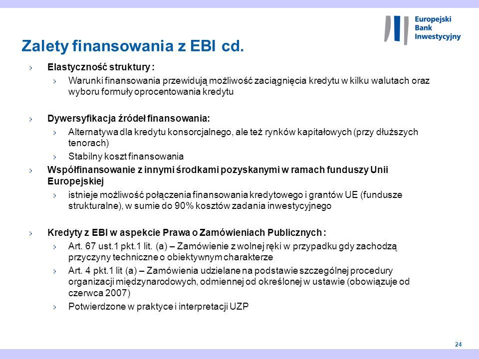 24 Elastyczność struktury : Warunki finansowania przewidują możliwość zaciągnięcia kredytu w kilku walutach oraz wyboru formuły oprocentowania kredytu