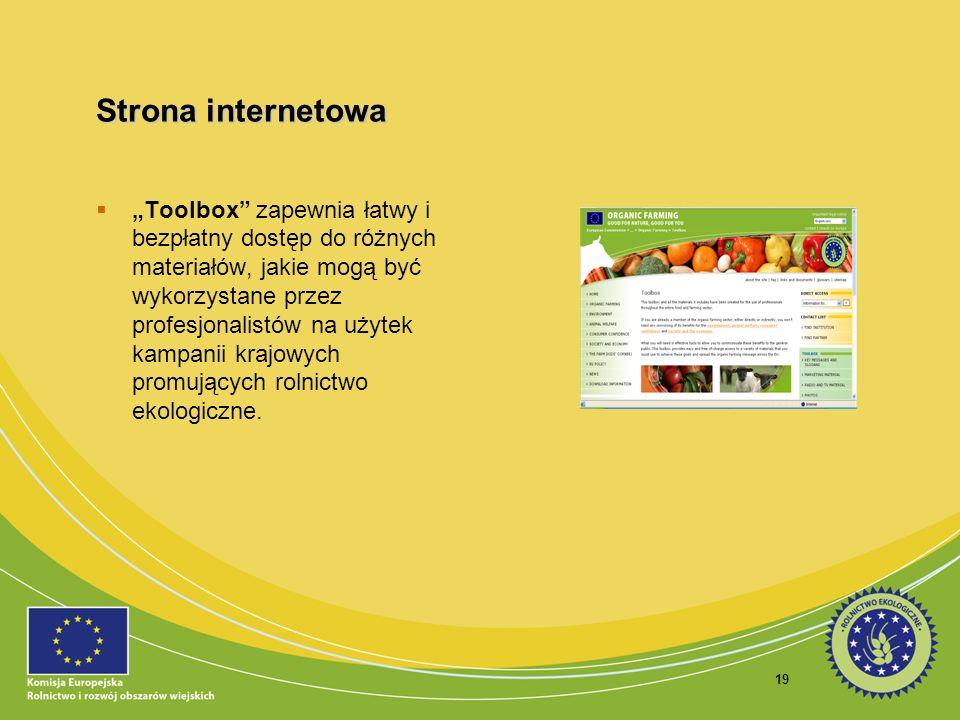19 Strona internetowa Toolbox zapewnia łatwy i bezpłatny dostęp do różnych materiałów, jakie mogą być wykorzystane przez profesjonalistów na użytek ka