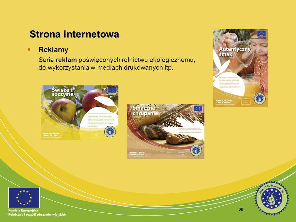 28 Reklamy Seria reklam poświęconych rolnictwu ekologicznemu, do wykorzystania w mediach drukowanych itp. Strona internetowa