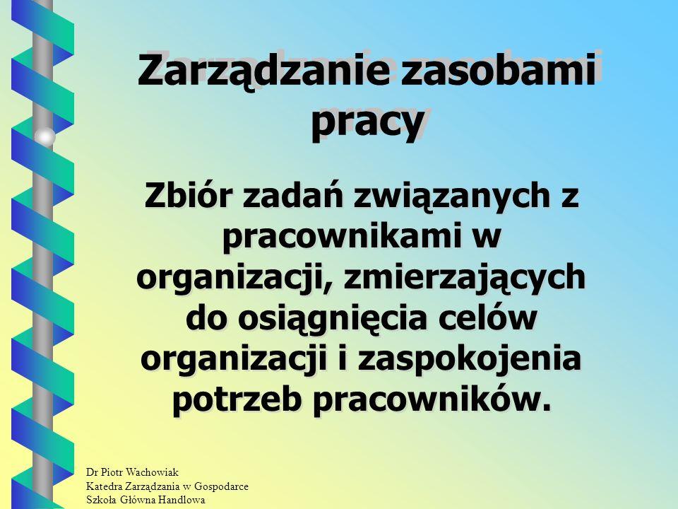 Dr Piotr Wachowiak Katedra Zarządzania w Gospodarce Szkoła Główna Handlowa Wiedza Wiedza jest wyjątkowym zasobem przedsiębiorstwa.