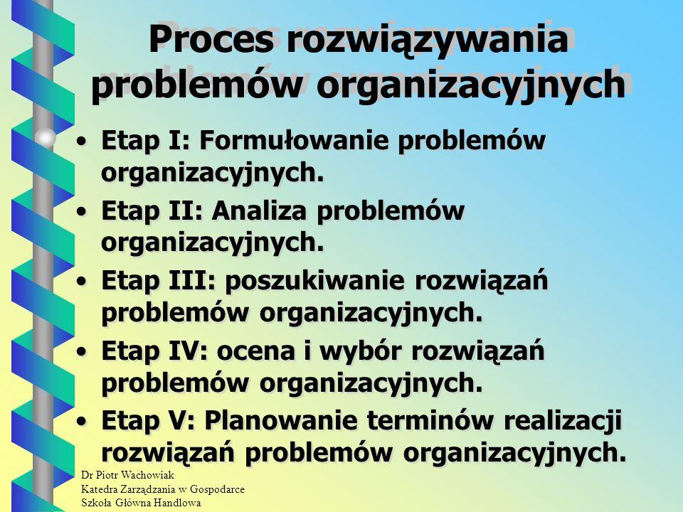 Dr Piotr Wachowiak Katedra Zarządzania w Gospodarce Szkoła Główna Handlowa Etap V Kwestionariusz IV powinien zawierać również: argumenty ekspertów o przeciwstawnym stanowisku, prośbę o ostateczną decyzję eksperta.